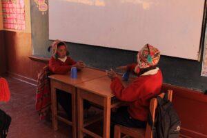 Niños prácticando coordinacion en Yanacancha