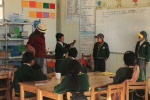 Niños practicando en Huactainco